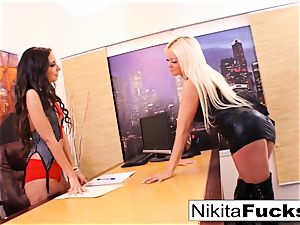 Nikita's girly-girl office plow