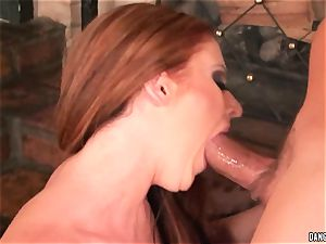 Sophie Dee hatch pokes this rigid throbbing pink cigar