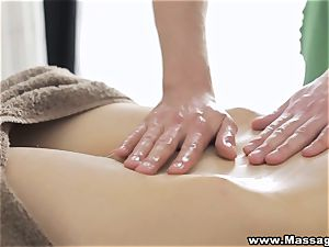 massage X - buttfuck on massage table