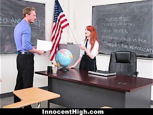 InnocentHigh - lovely sandy-haired college girl fucks Drama teacher