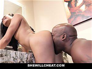 SheWillCheat - hotwife wife drills big black cock in bathroom