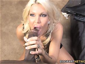 busty milf Michelle McLaren pulverizes huge ebony fuck-stick