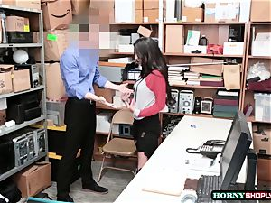 sizzling Latina Sophia Leone gets her muff pounded by officers ginormous prick so stiff