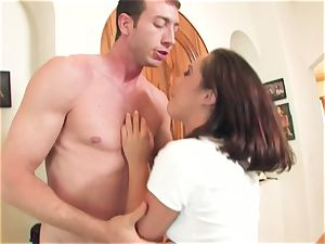 crazy promiscuous breezy Kristina Rose takes a fat meatpipe deep in her facehole