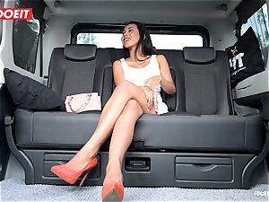 LETSDOEIT - mischievous nubile plows and inhales cab Driver