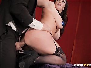 rectal fuckin' massive big-chested bra-stuffers Angela milky on a magic showcase