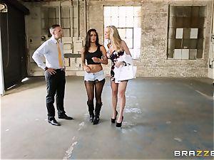 Brandi enjoy lets ho-bo Abbey Lee Brazil ravage her boy