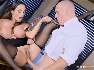 Office chesty stunner Ariella Ferrera takes enormous spear
