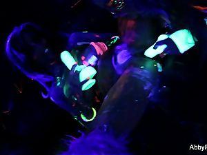 stunning blacklight joy with Abigail Mac