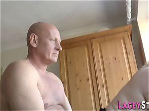 obese brit grandma poked