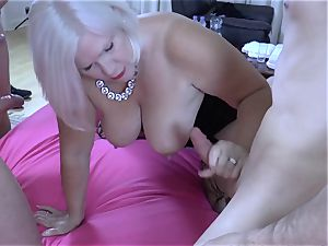 LACEYSTARR - hungry grandmother group-fucked