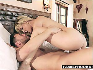 FamilyHookups - warm platinum-blonde Stepmom smashes Her Stepson