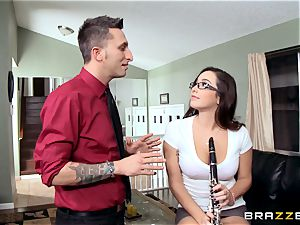 wild college girl Karlee Grey nails her music teacher