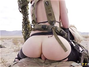 iron Gear Solid five anal porn parody with insatiable brunette Casey Calvert