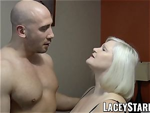 LACEYSTARR - GILF tempts huge dicked hairy man into drilling