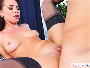 Smoking red-hot Aidra Fox riding on top