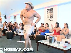 CFNM hotel soiree with large meatpipe masculine Strippers