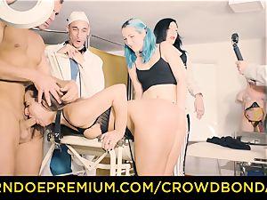 CROWD restrain bondage servant Amirah Adara first time domination & submission