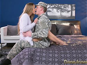 Dane Jones firm fellating and nailing messy Army wife