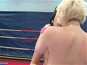 Lucy Belle playing ultra-kinky with super-fucking-hot female inwards the ring