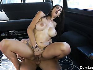 big-chested Spanish babe plowed rigid on Wheels