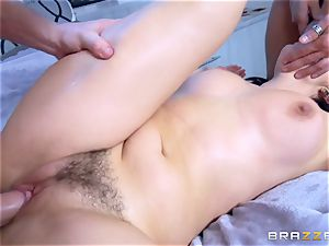 insane brown-haired Valentina Nappi dual screwed plums deep