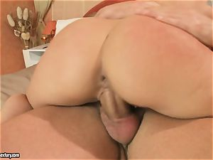 fabulous Kathia Nobili rides this manhood up her beaver