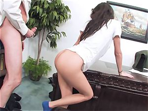 trampy black-haired April ONeil getting her labia cracked by a monster sausage