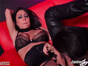 Jessica Jaymes romped by Alison Tyler using a strap-on