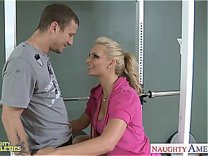 marvelous Phoenix Marie at the gym getting penetrated