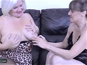 AgedLovE Mature blonde Lacey Starr gonzo tear up
