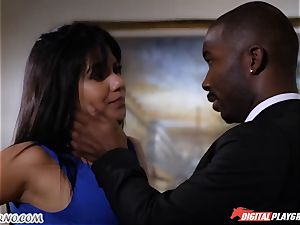ebony boy has lovemaking with jaw-dropping rich nymph Rose Monroe