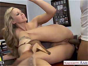 platinum-blonde tutor Julia Ann nailing a big black cock