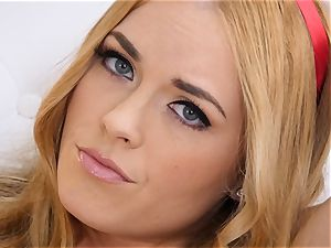 nude onanism with red-haired Bailey Rayne