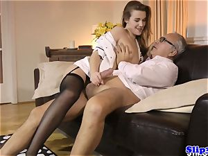 Eurobabe nurse screws mature couple