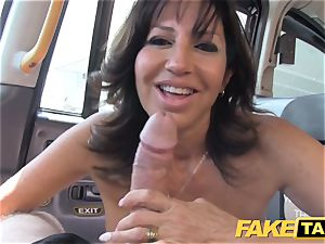 faux taxi uber-sexy cougar with meaty milk cans does ass-fuck