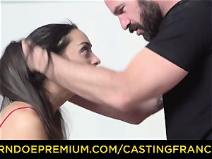 audition FRANCAIS - inexperienced sweetie porked and jism frosted
