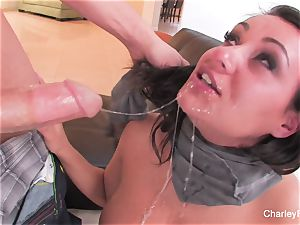 brown-haired sweetie Charley gets a raunchy fucking
