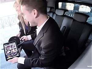 pounded IN TRAFFIC - steaming car orgy with super-naughty Czech stunner