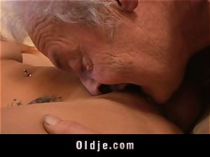elderly man's casting a super-hot nubile
