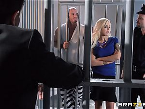 Nina Elle drills a marvelous con in front of her cheating husband