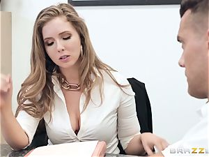 Office pound with big-boobed boss Lena Paul