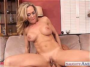 huge-boobed platinum-blonde mom Brandi enjoy take shaft