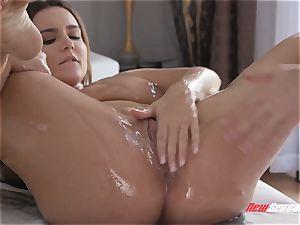 Natasha uber-cute gonzo huge titty massage