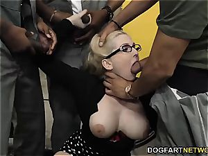 big-titted Christie Stevens gets assfuck from ginormous dark-hued spunk-pumps