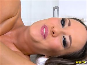 fuckin' the pussyhole of naughty black-haired Blue Angel