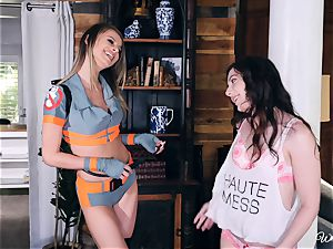Jillian Janson and Ember Stone double fuck stick blessing