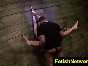 FetishNetwork Becca Diamond roped mummy