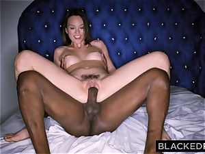 BLACKEDRAW Smoking Swinger wife attempts dark-hued wood