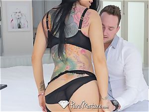 PUREMATURE buxom milf Real Estate agent boinked